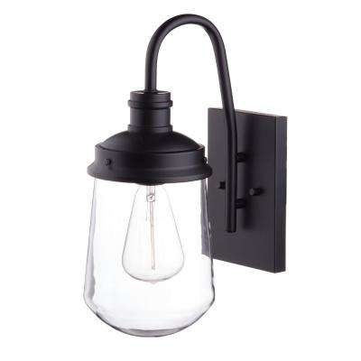 Edelman 1-Light Black Outdoor Wall Mount Sconce