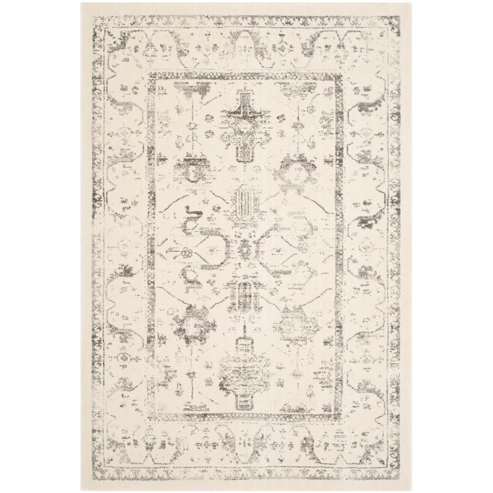 Porcello Ivory/Light Grey 5 ft. 3 in. x 7 ft. 7