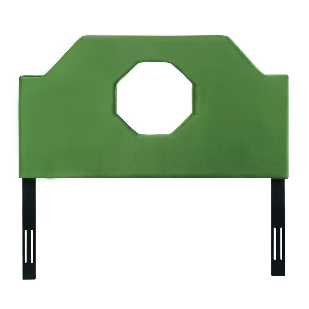 Noctis Green Velvet Queen Headboard