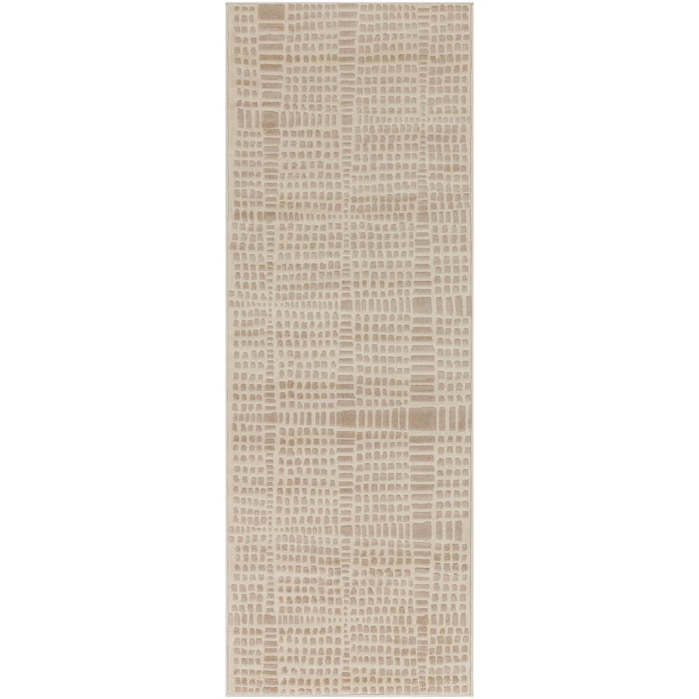 Astvin Beige/Khaki 2 ft. 7 in. x 7 ft. 3 in. Striped Area Rug