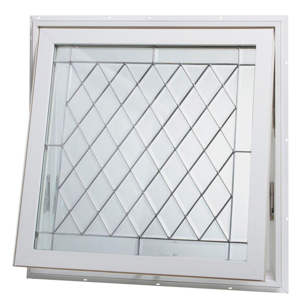 TAFCO WINDOWS 32 in. x 32 in. Awning Vinyl Window - White