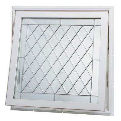 32 in. x 32 in. Awning Vinyl Window - White