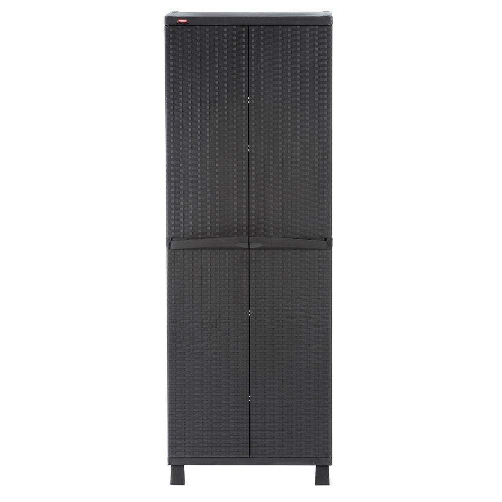 26 in. x 72 in. Freestanding Plastic Rattan Cabinet