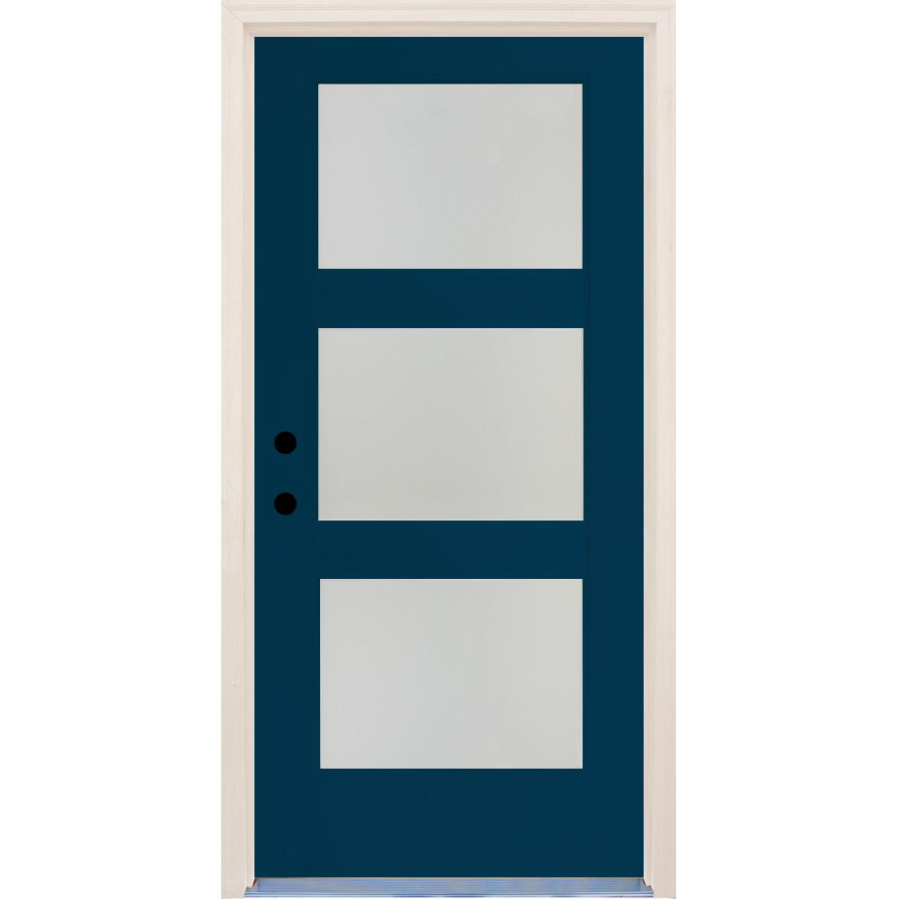 Elite Atlantis Etch Glass Contemporary Right-  sc 1 st  The Home Depot & Builders Choice 36 in. x 80 in. Elite Atlantis Etch Glass ...