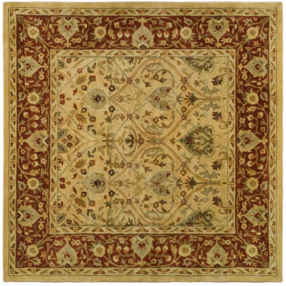 Persian Legend Ivory/Rust 6 ft. x 6 ft. Square Area Rug