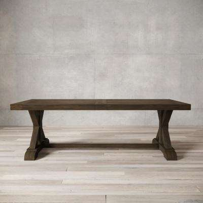 Madera 98 in. Salvaged Espresso Dining Table
