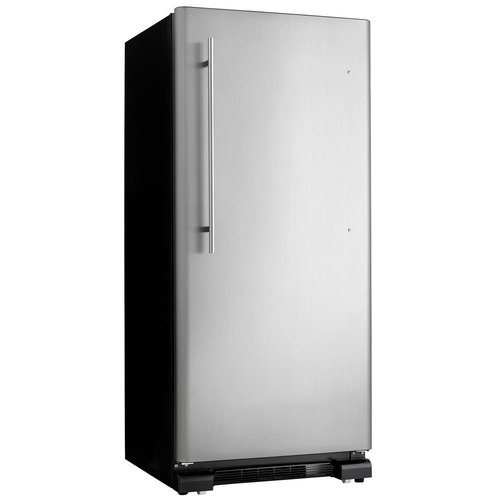 Danby 30 in. W 17.0 cu. ft. Freezerless Refrigerator in Black with Stainless Steel Door