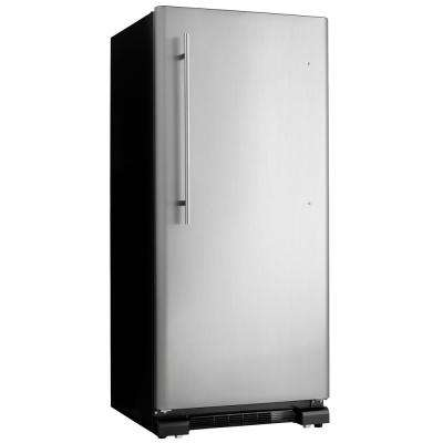 30 in. W 17.0 cu. ft. Freezerless Refrigerator in Black with Stainless Steel Door