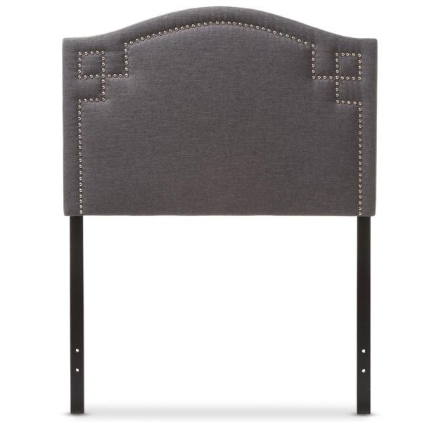 Baxton Studio Aubrey Gray Twin Headboard 28862-6982-HD