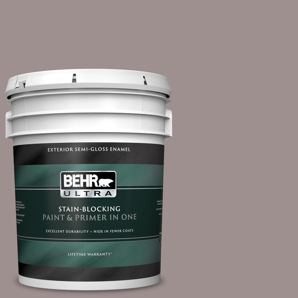 Reviews For Behr Ultra 5 Gal 780b 5 Cheyenne Rock Semi Gloss Enamel Exterior Paint And Primer In One 585405 The Home Depot