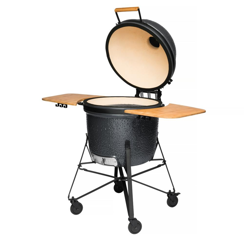 21 in. Ceramic Charcoal Grill in Grey