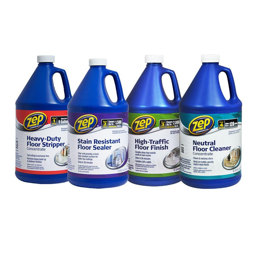 Perfect ZEP 128 Oz. Floor Cleaning Kit (4 Pack)