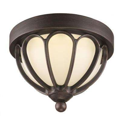 Mirage Rust Integrated LED Outdoor Flush Mount