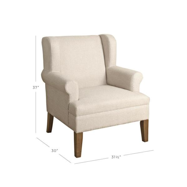 Homepop Cream Emerson Wingback Accent Chair