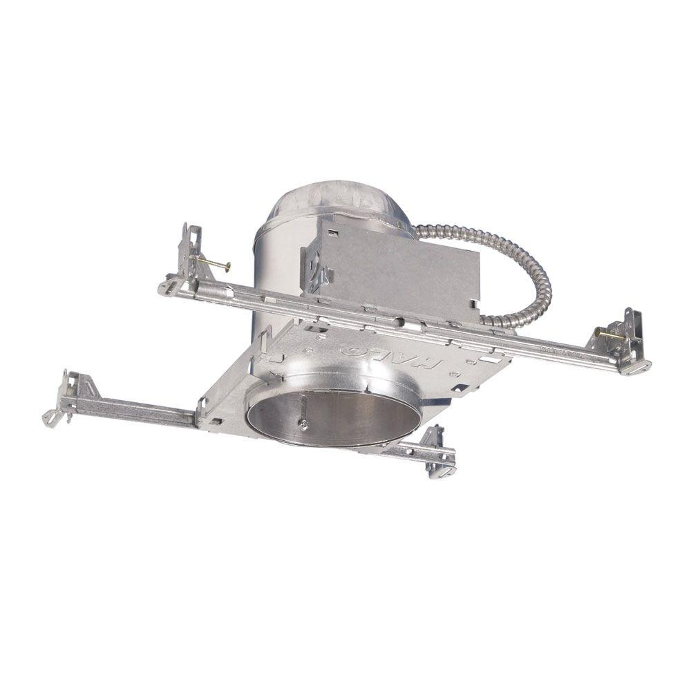 Aluminum Recessed Lighting Housing For New Construction Ceiling, Insulation  Contact