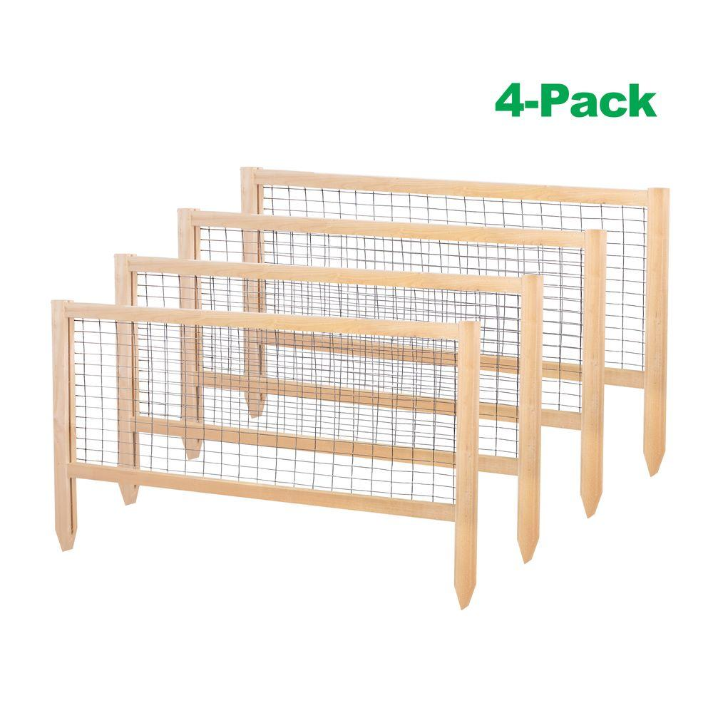 greenes fence critterguard 23 5 in cedar garden fence 4 pack rccg4pk the home depot