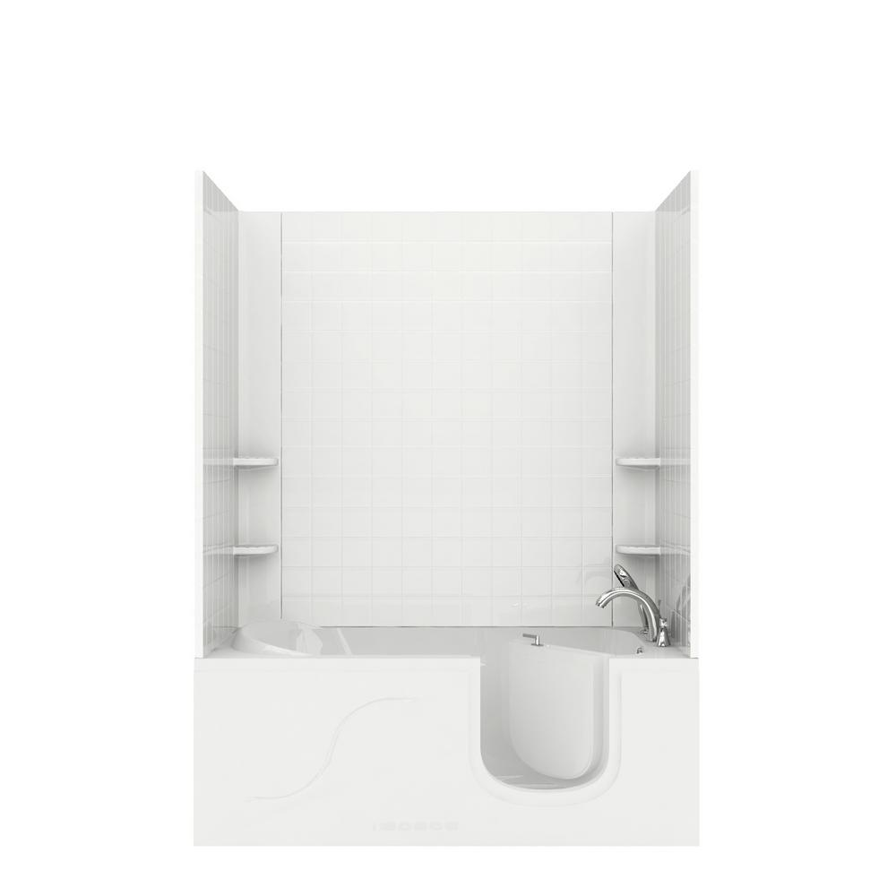 Universal Tubs Rampart Step In 5 ft. Walk-in Whirlpool Bathtub with ...