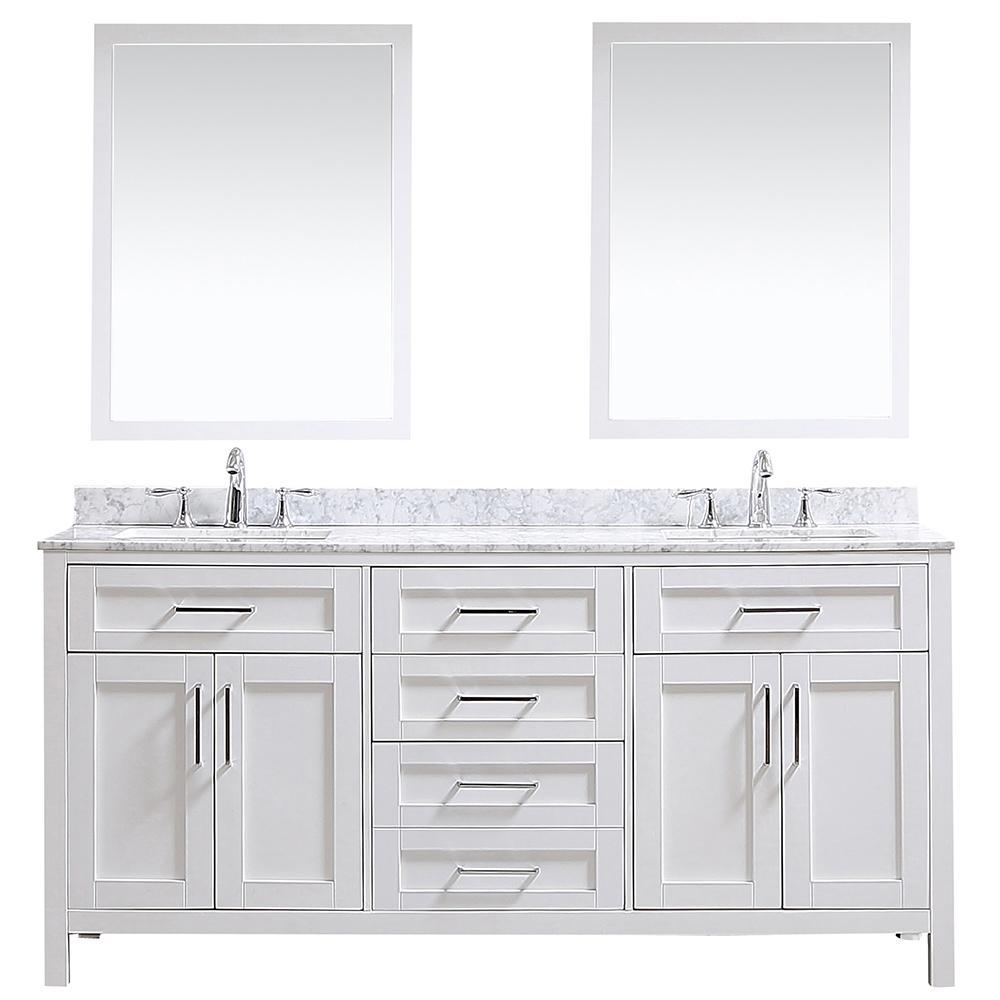 Ove Decors Ove Tahoe 72 In W X 21 In D Vanity In White