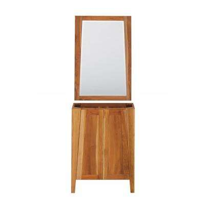 Significado 24 in. L Natural Teak Vanity Only With 24 in. L x 35 in. H Mirror