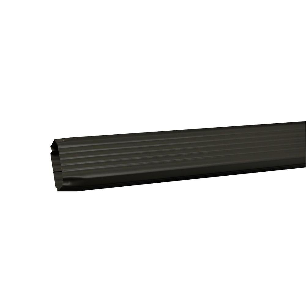 Amerimax Home Products 3 in. x 4 in. x 120 in. Tux Gray Aluminum Downspout