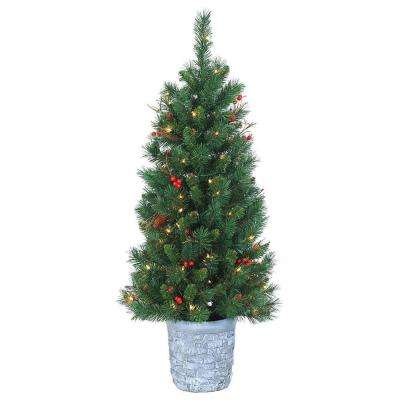 Porch & Potted Christmas Trees - Artificial Christmas Trees - The Home Depot