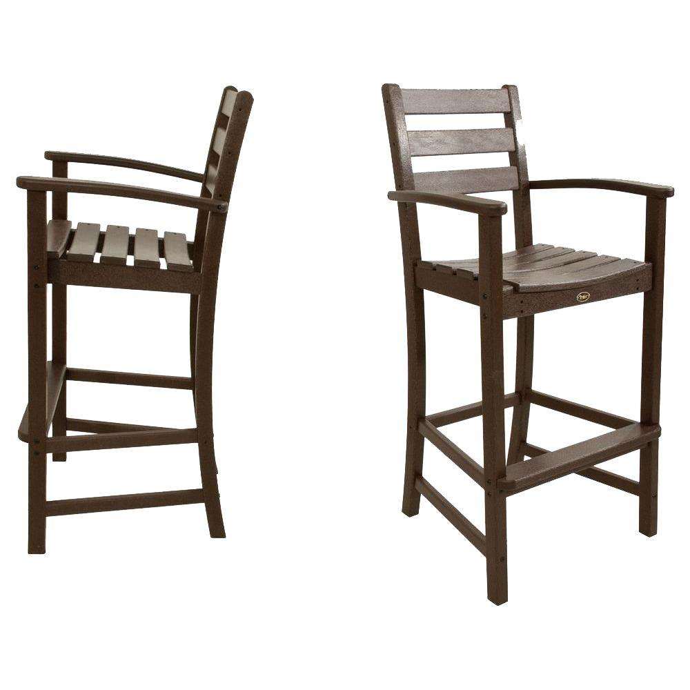 Trex Outdoor Furniture Monterey Bay Vintage Lantern 2 Piece Patio Bar Chair  Set