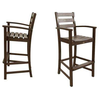 Monterey Bay Vintage Lantern 2-Piece Patio Bar Chair Set