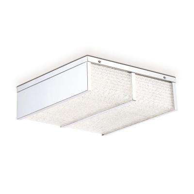Wynn Collection 28-Watt Chrome Integrated LED Flushmount