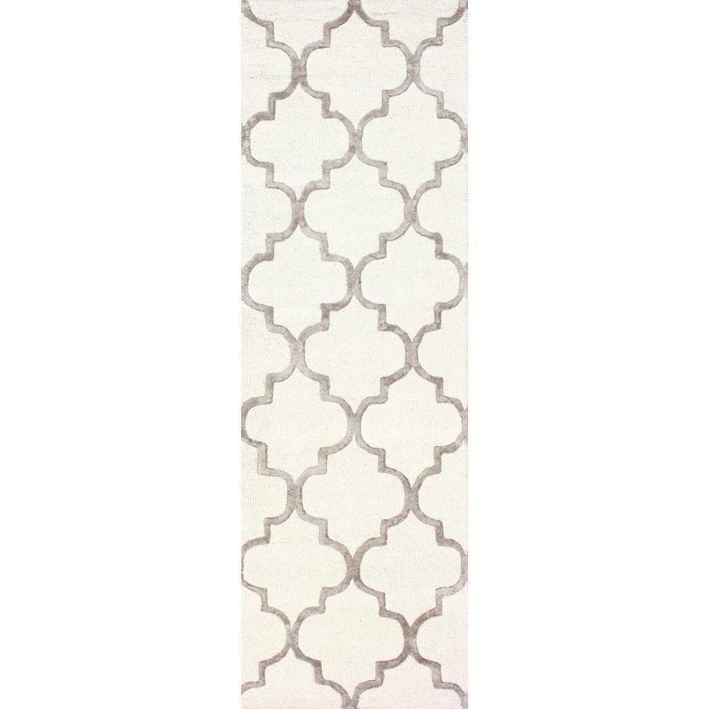 nuLOOM Park Avenue Trellis Nickel 3 ft. x 8 ft. Runner Rug