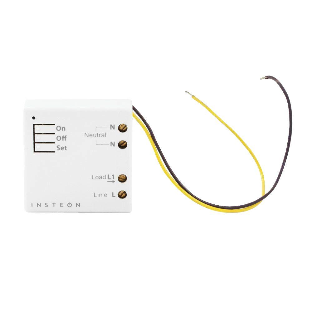 Insteon 200-Watt Remote Control Micro Dimmer Module - White