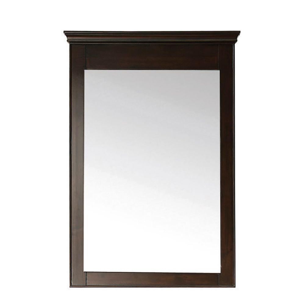 Windsor 34 in. L x 24 in. W Wall Mirror in Walnut