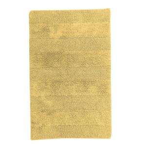 Gold 34 in. x 21 in. Cotton Reversible Bath Rug