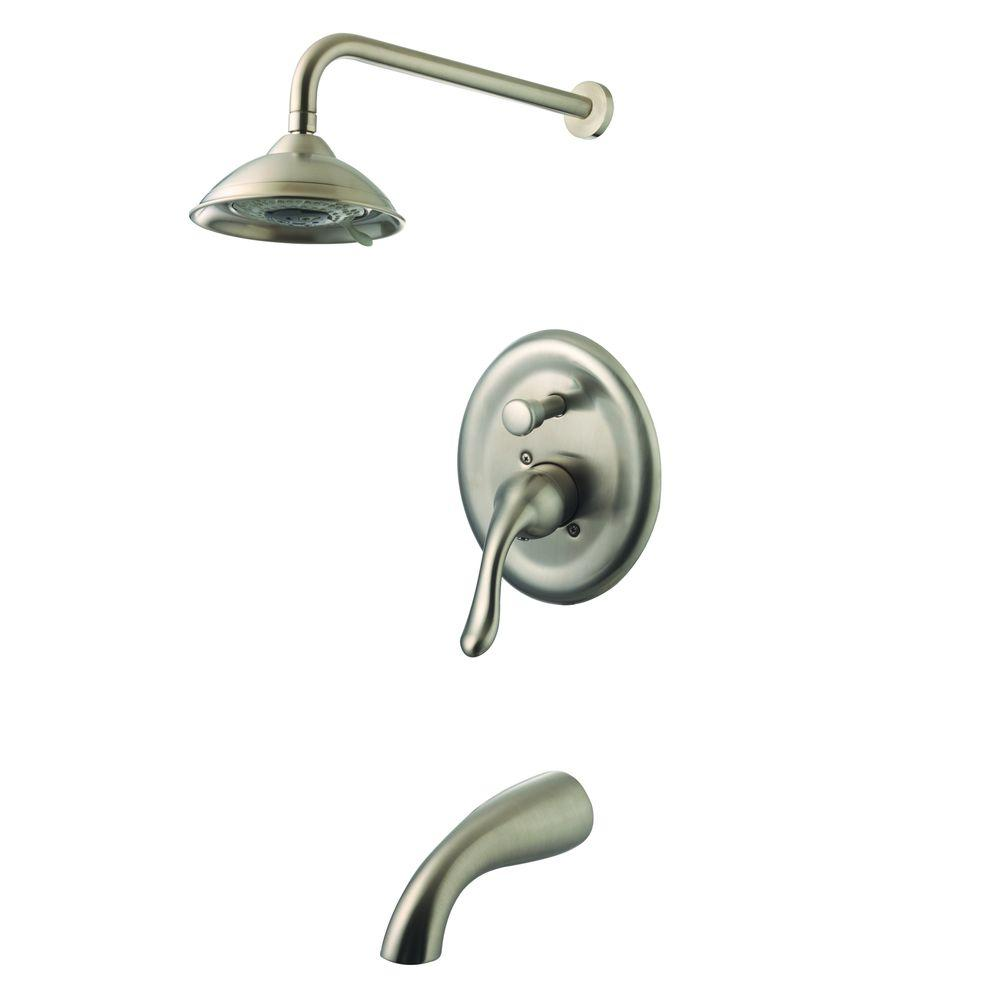 Yosemite Home Decor Single Handle 2 Spray Tub And Shower Faucet In Brushed Nickel