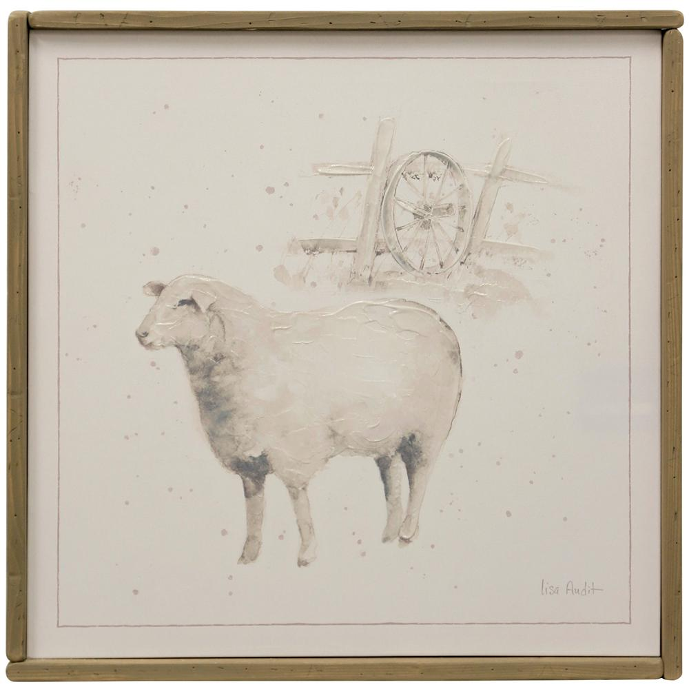 StyleCraft 25.74 in. x 25.74 in. Sheep Farm Animal Hand Painted Framed Canvas Wall Art, Multicolored was $102.99 now $39.92 (61.0% off)