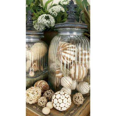 5 in. x 20 in. Tubes of Assorted Coastal Living Decorative Sola Balls (Set of 2)