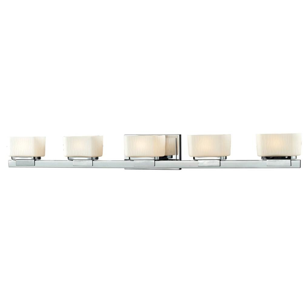 Terra 5-Light Chrome Bath Vanity Light