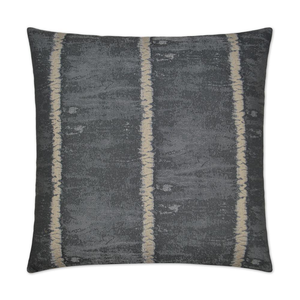 Shibori Grey Feather Down 24 in. x 24 in. Standard Decorative Throw Pillow