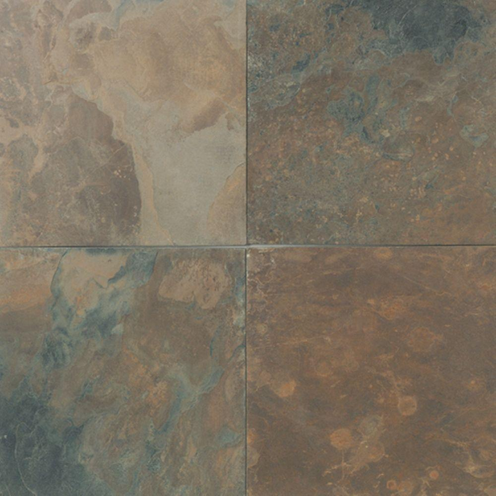 Daltile natural stone collection california gold 12 in x 12 in slate floor and wall tile 10 Slate tile flooring