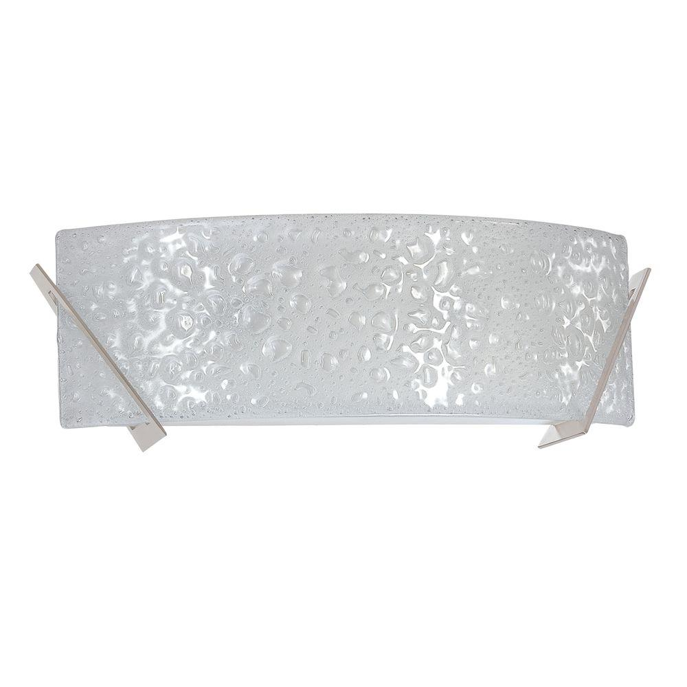 Michaela 2-Light Satin Nickel Vanity Light with Curved Bubble Glass Shade