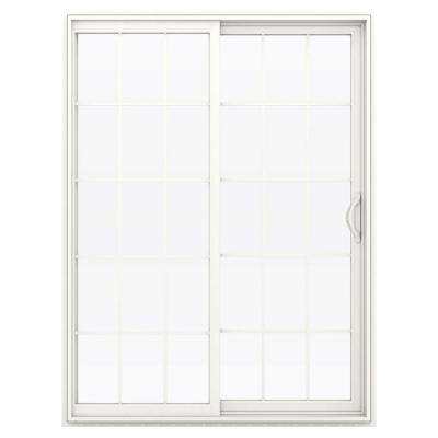 v2500 series vinyl sliding patio door with grids