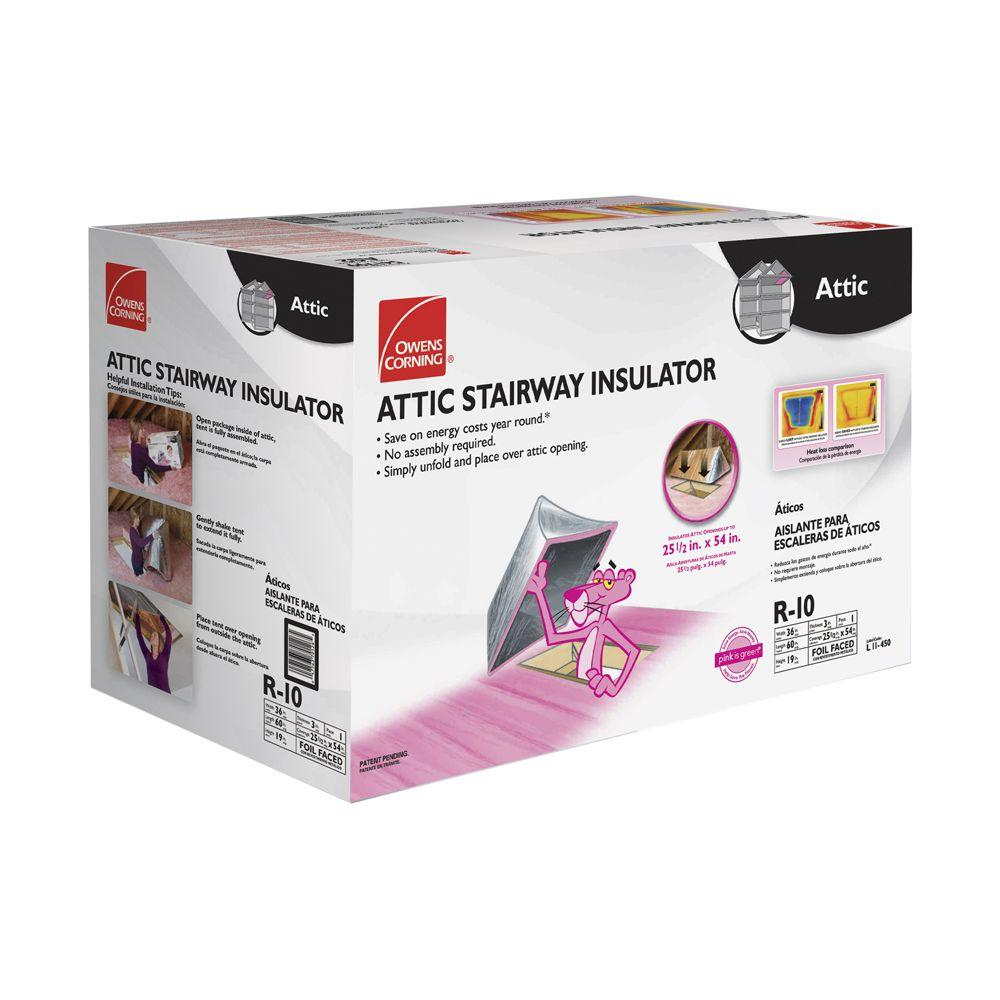 Owens Corning Attic Stair Insulator Tent Cover II 25-1/2 in. x  sc 1 st  Home Depot & Owens Corning Attic Stair Insulator Tent Cover II 25-1/2 in. x 54 in ...