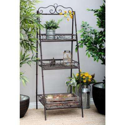 Black 3-Tier Ladder Shelf
