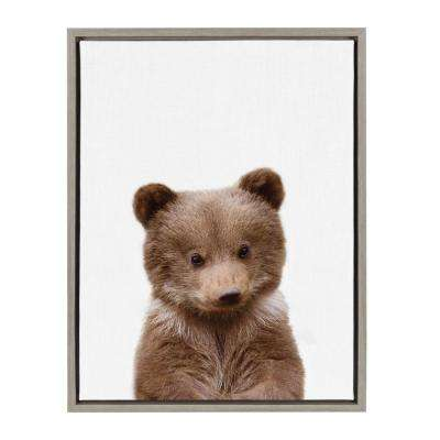 "Sylvie ""Animal Studio Bear"" by Amy Peterson Framed Canvas Wall Art"