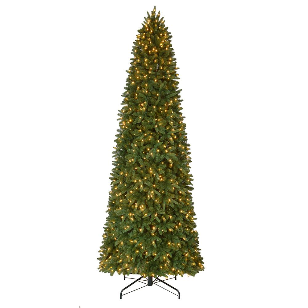 Artificial Christmas Trees Pre Lit Led: Home Accents Holiday 12 Ft. Pre-Lit LED Sierra Nevada Slim