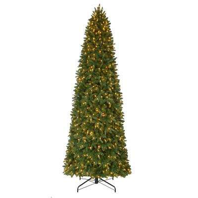 12 ft. Pre-Lit LED Sierra Nevada Slim Artificial Christmas Tree with 900 Warm White Lights