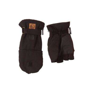 XX-Large Black Flip-Top Glove Mittens (2-Pack)