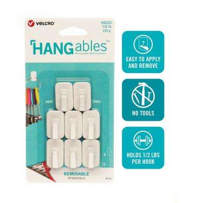 HANGables Removable Micro Hook in White (8-Count)