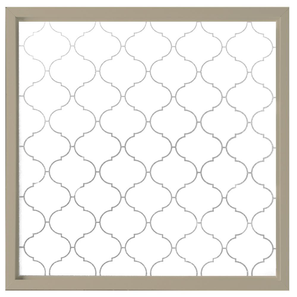 23.5 in. x 23.5 in. Baroque Decorative Glass Picture Vinyl Window