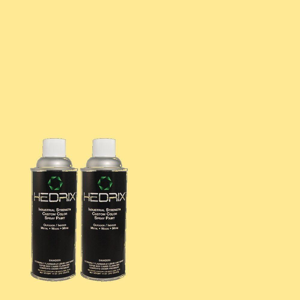 Hedrix 11 oz. Match of 380A-3 Summer Harvest Semi-Gloss Custom Spray Paint (2-Pack)