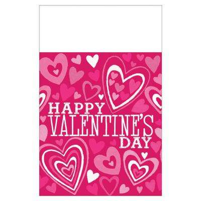 Valentine Party 54 in. x 102 in. Plastic Valentine's Day Table Cover (3-Pack)